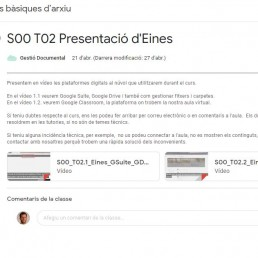 Aula virtual del curs de Barcelona Activa