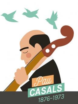Il·lustració de Pau Casals per al mes de març